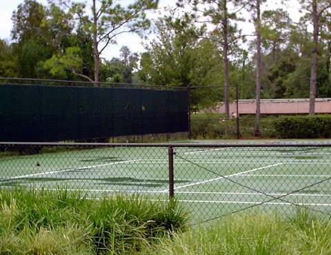 Tennis court at meadow recreation area
